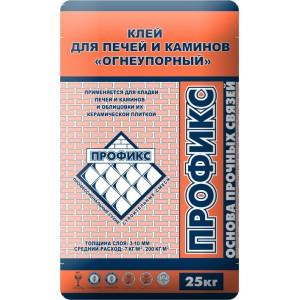 Клей плиточный огнеупорный (12 кг) Профикс